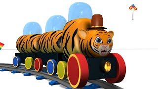 Animal Train - Train Cartoon - Kids Videos for Kids - Toy Train Videos - Toy Factory Cartoon - jcb
