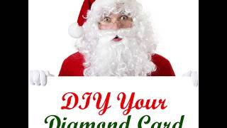 How To Make A Christmas Diamond Painting Greeting Card