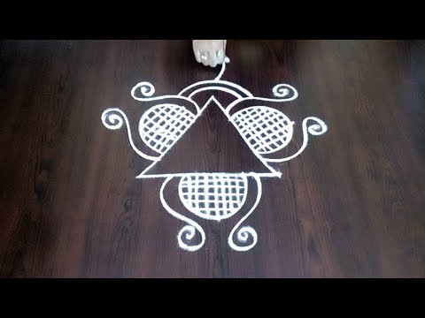 New Freehand Muggulu || Designer Kolam || Beautiful RangolI Without Dots || Fashion World