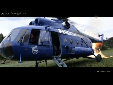 Mil Mi-8T Helicopter Startup / Take Off - Cockpit Onboard Cam