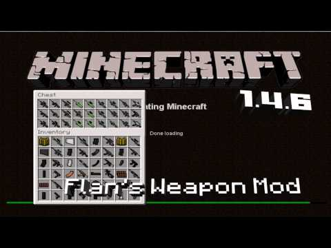 Flan's Weapon Mod Minecraft 1.4.6/1.4.7