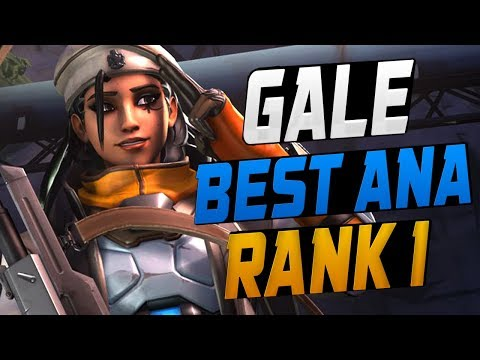GALE INSANE ANA & XQC PRO WINSTON! [ OVERWATCH SEASON 9 TOP 500 ]