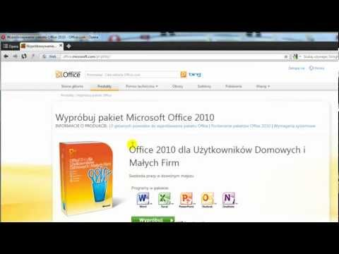 Jak pobrać próbną wersję pakietu microsoft office 2010