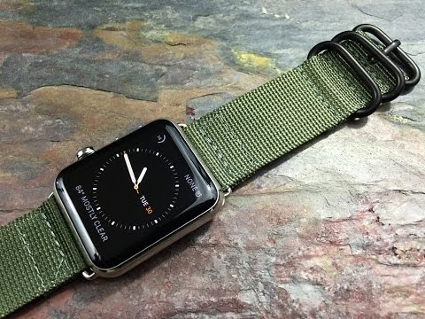 Apple Watch with NATO / Zulu style straps and bands