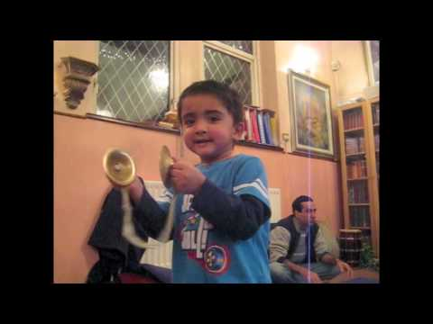 Iskcon Coventry 3 Year Old Leads Kirtan 1 2 video