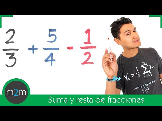 Suma y resta de fracciones con diferente denominador. Adding & Subtracting of fractions (unlike)