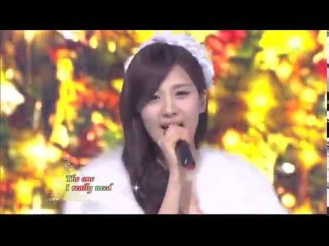 Suzy&Seohyun&Hyorin - All I want for christmas is you @SBS Inkigayo 인기가요 20111225 Music Videos