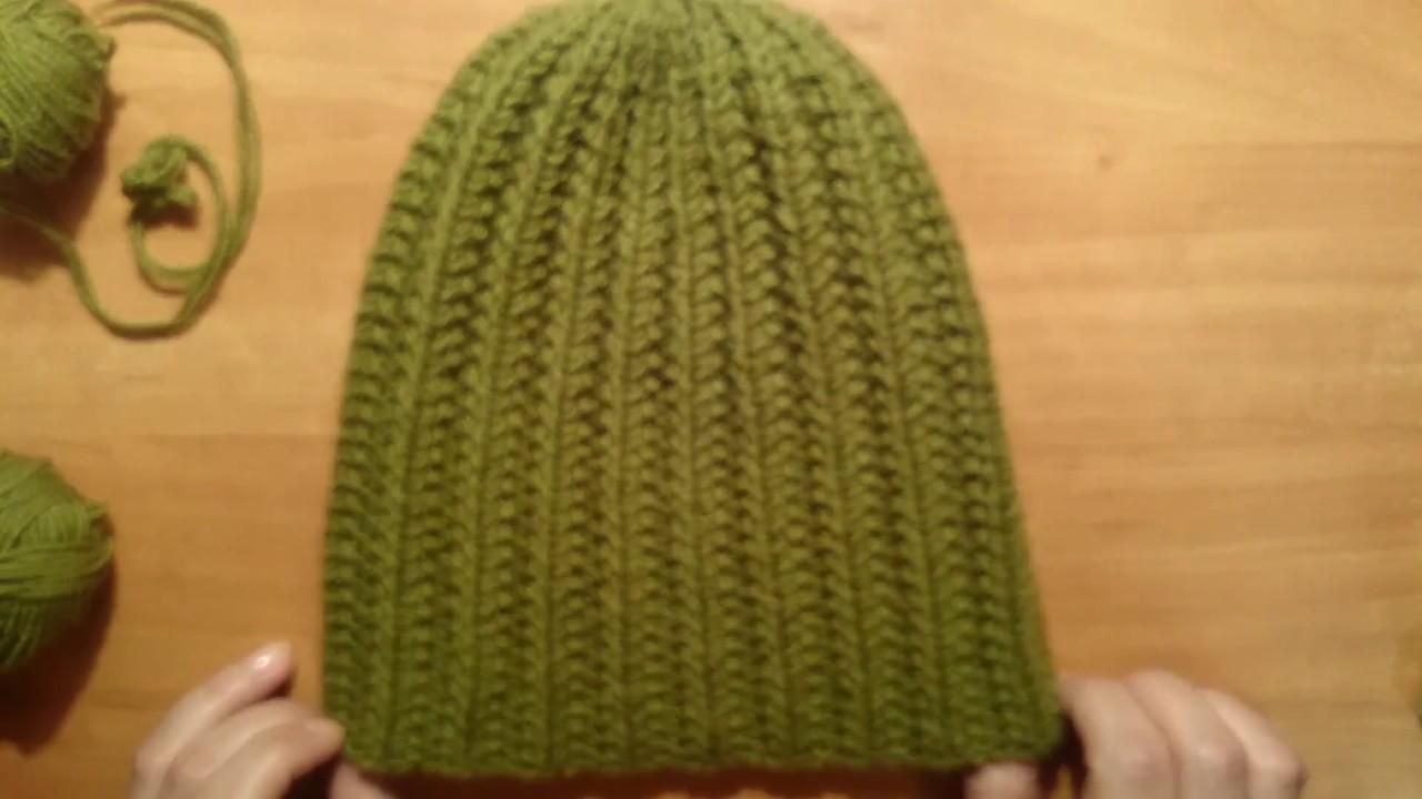 Как закончить вязание шапки английской резинкой 85
