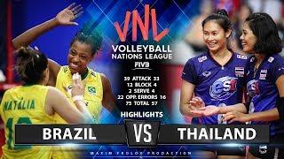 Brazil vs Thailand    Highlights   Women's VNL 2019