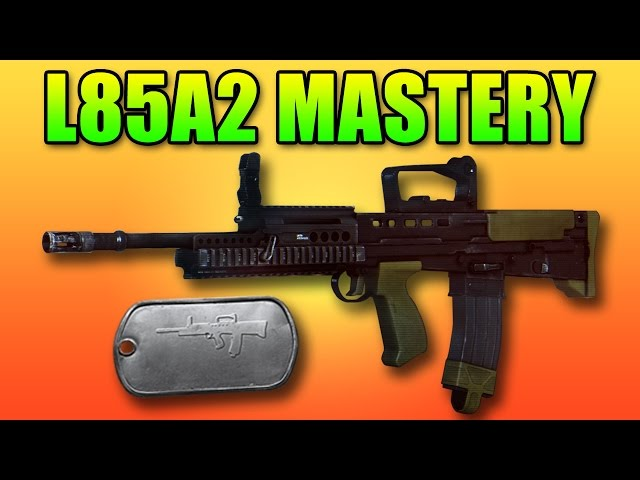 BF4 L85A2 Mastery Dog Tag | Battlefield 4 Bullpup Assault Rifle
