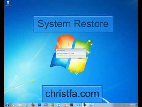 System restore windows 7 data loss