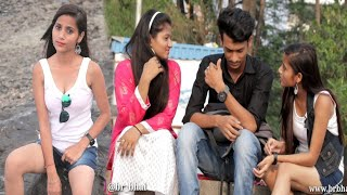 Cute girl Asking   Yeh Mera Ex boyfriend hai Prank   Cute School girl staring prank part 2   BRbhai