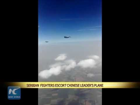 Serbian fighters escort Chinese leader's plane