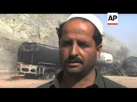 14 NATO tankers damaged in bombing near border