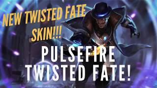 PULSEFIRE TWISTED FATE SKIN!!! | NEW TWISTED FATE SKIN SPOTLIGHT | TRUE NORTH KOALA