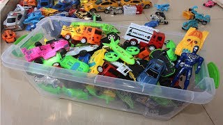 Transportation Vehicles for Children to Learn Colors with Disney Cars ABC Nursery Rhymes