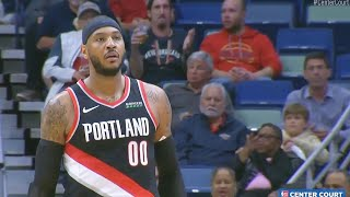 Carmelo Anthony Trail Blazers Debut In NBA Return! Trail Blazers vs Pelicans 2019 NBA Season