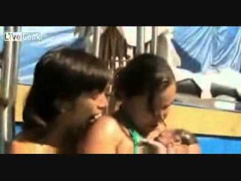 Woman Giving Birth Under Water And Her Dolphin Midwife  ☺►2 video