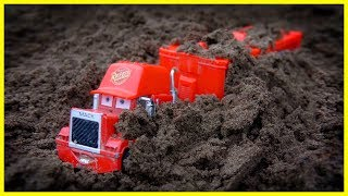 Cars 3 Toy Mack Truck Lightning McQueen, Fine Toys Construction Vehicles Learn Colors For Children