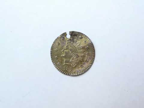 1881 Fractional Gold Coin 1/2 Dollar California for sale