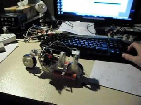 WMP gyro balanced robot bike test