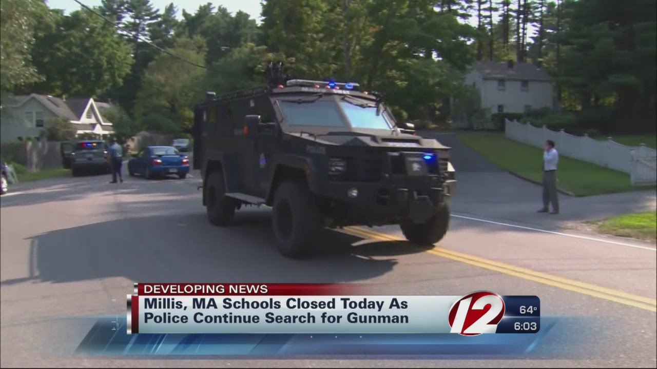 Millis schools closed, gunman still on the loose