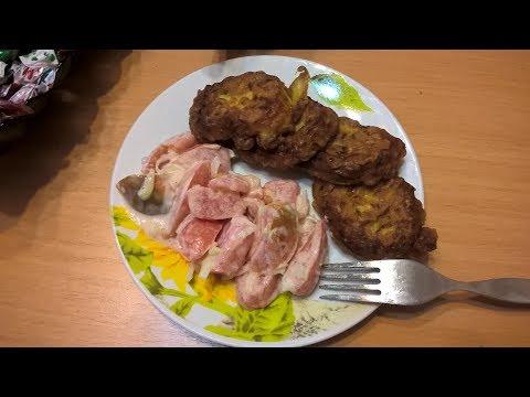 оладушки с кабачками и чесноком