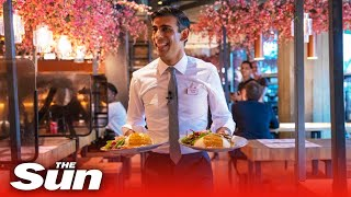 Rishi Sunak is the worst waiter we've ever seen - The Chancellor serves chicken to vegans
