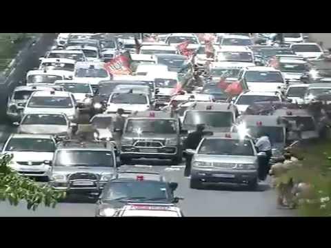 Grand welcome to Shri Narendra Modi in Delhi to celebrate Historical Victory.