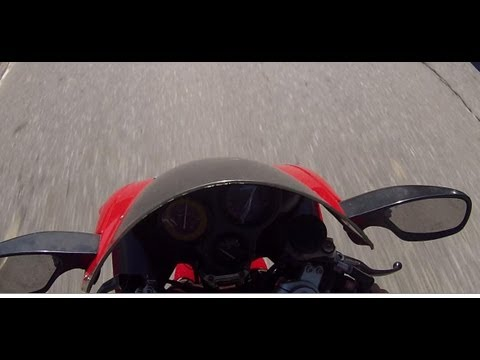 Cagiva Mito 125 Top Speed GoPro Hero 3 1080p klip izle