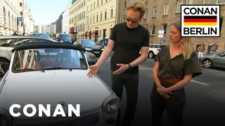 Conan Drives A Rickety East German Trabant  - CONAN on TBS