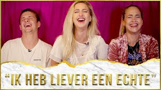 Blonde Tigers over dildo's | De Seksmobiel