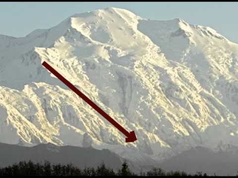 Mount McKinley Avalanche in Denali National Park, Alaska