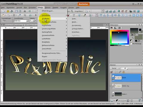 Zerfließender Text mit Corel PaintShop Pro X5, X4, X3, X2, Tutorial Deutsch