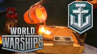 Casting Aluminum World Of Warships Logo with Epoxy Finish