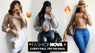 FALL FASHION NOVA CURVE TRY ON HAUL 2019 | FALL HAUL | VINTYNELLIE