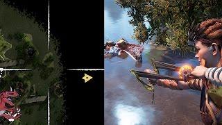 Horizon Zero Dawn gameplay - SECRET SPOT OUTSIDE OF THE MAP (Horizon Zero Dawn Snapmaw)