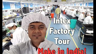 Intex India Phone Manufacturing Factory Visit, Vlog Update | Make in India