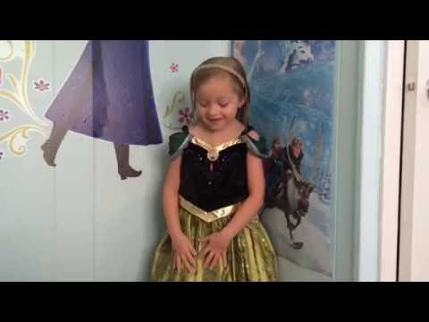FROZEN Anna Coronation Dress! Disney Parks Exclusive Dress-up Cosplay Costume review