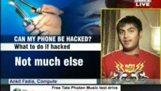 Ankit Fadia Ethical Hacker on CNN IBN talking about Mobile Phone Hacking & Security Tips