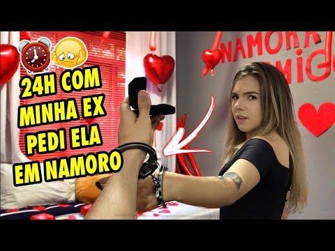 24 HORAS COM MINHA EX NAMORADA ALGEMADOS NO DIA DOS NAMORADOS! (PEDI ELA EM NAMORO)