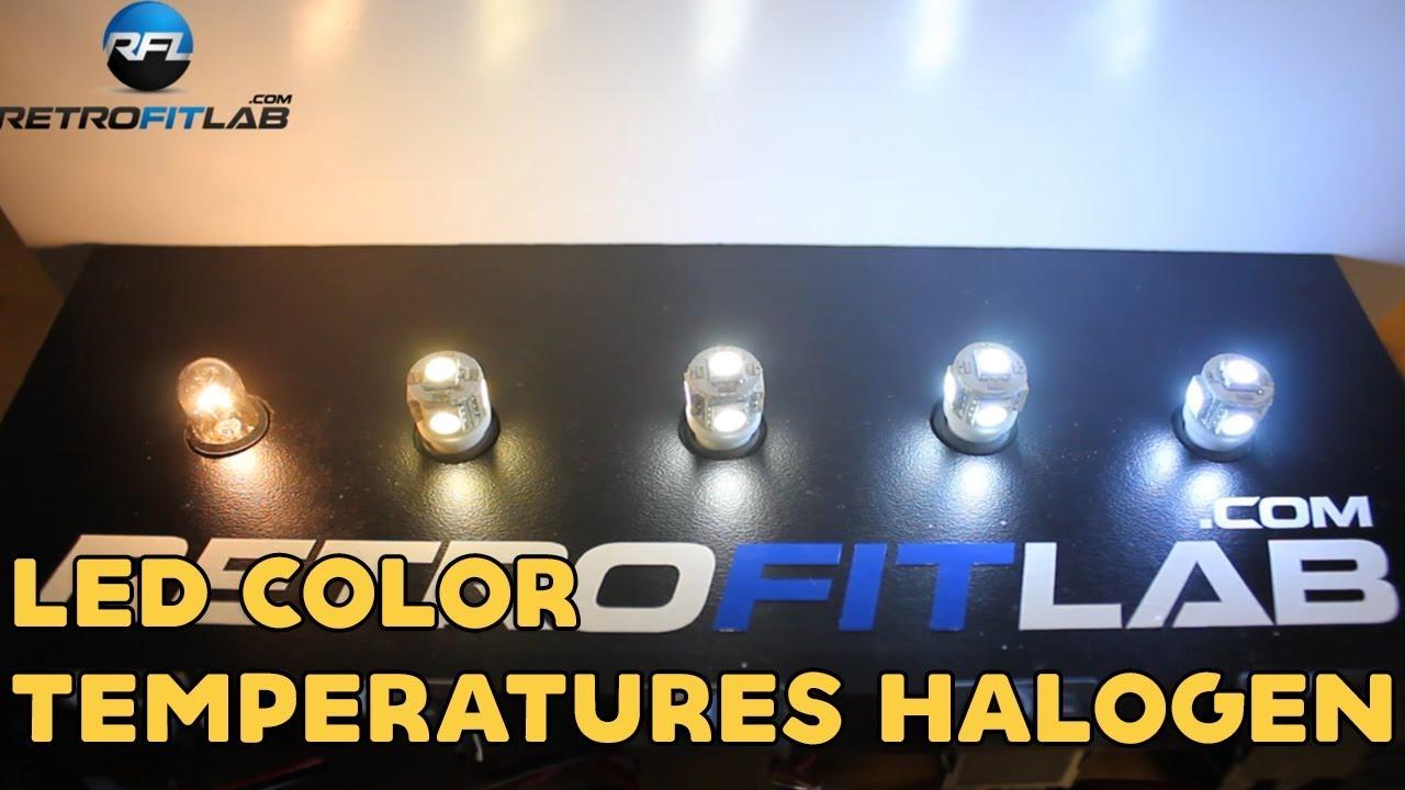 Led Color Temperatures 3k 4 3k 6k 8k And Halogen T10