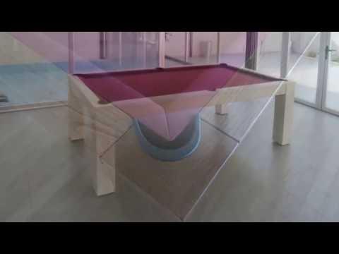 www.mibillar.es Mesas de billar convertibles en mesa de comedor, billares para el salon  de casa