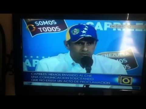 Henrique Capriles 15-04-2013, 2.00pm