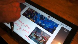 Using the Samsung ATIV for taking digital Notes with a stylus
