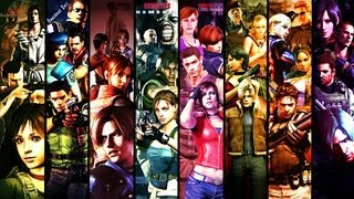 All characters and creatures from main series RESIDENT EVIL (0-6)