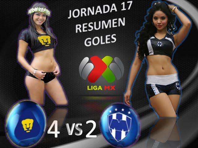 Pumas vs Monterrey 4-2 GOLES RESUMEN Jornada 17 Liga MX Apertura 2014 HD