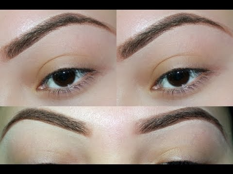 Eyebrow Grooming (threading) & how I fill them in
