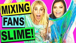 DIY Mixing and Unboxing Fans Slime with Karina Garcia! (Giant Slime Smoothie No Borax)
