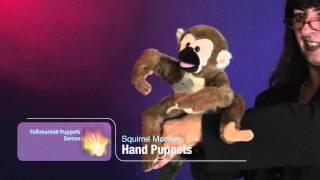 Folkmanis® Squirrel Monkey Puppet Demo - Retired